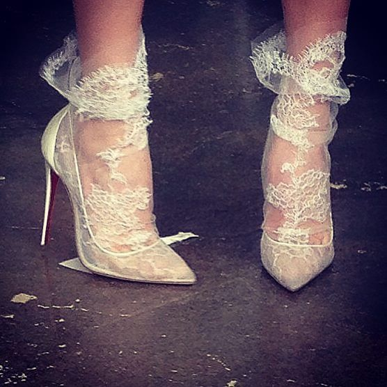 Marchesa socks with shoes