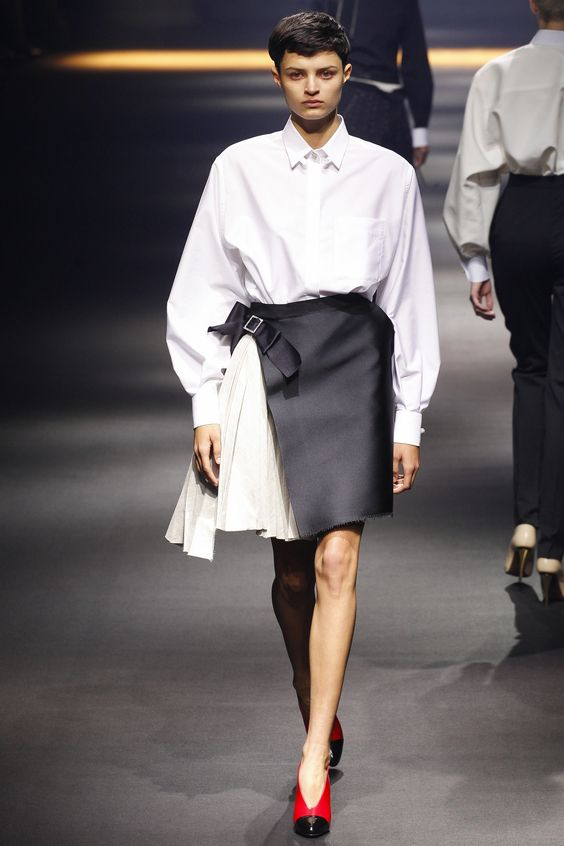 camasa pleated Lanvin