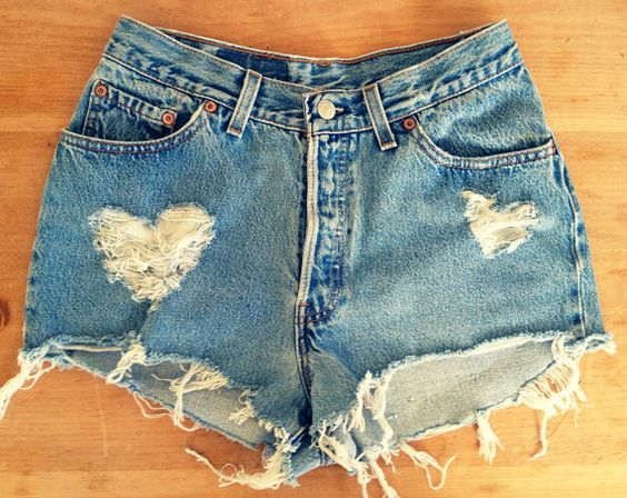 jeans cu inimioare