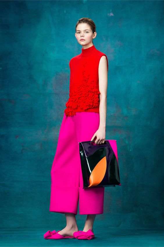 pink and red Delpozo pre-fall 2017