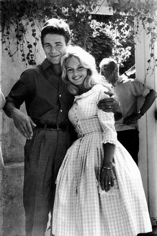 Brigitte Bardot gingham wedding dress