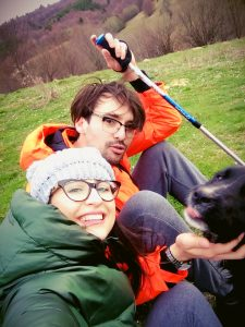 Pastel Chalet selfie