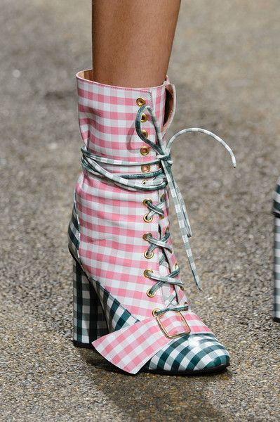 gingham boots