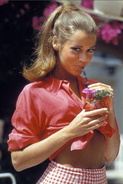 Jane Fonda gingham