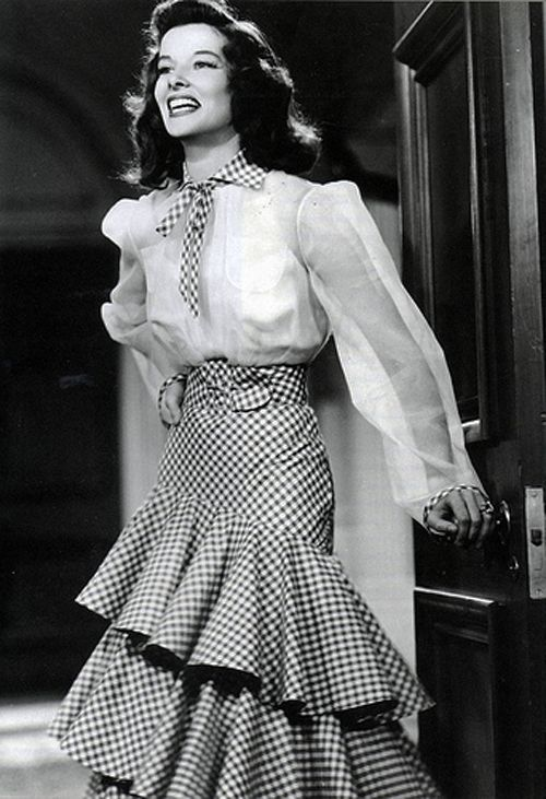 Katherine Hepburn gingham dress