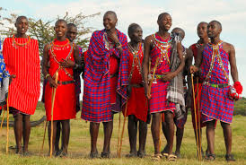 Maasai gingham traditional costume