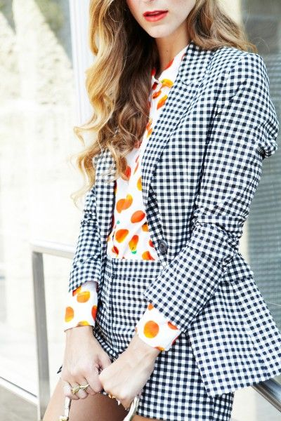 mix and match gingham summer