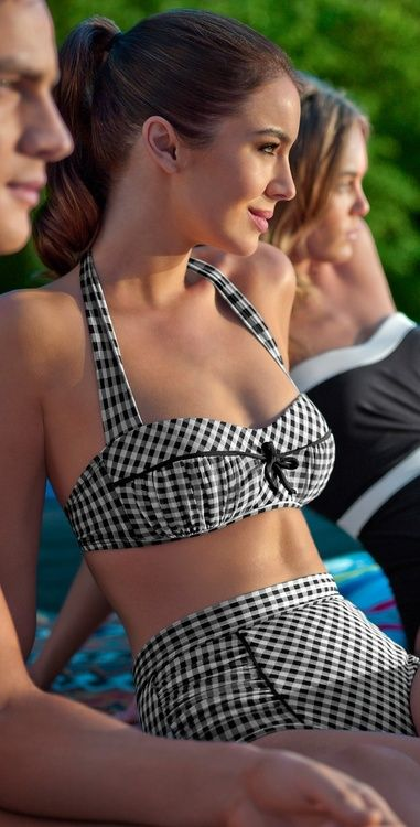 costum de baie gingham