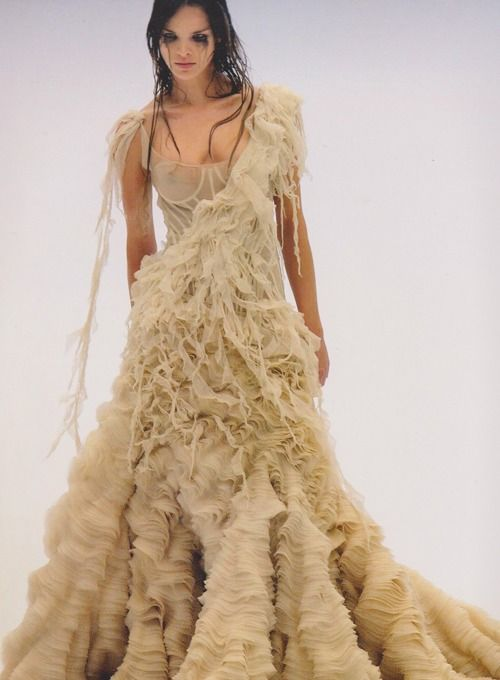 Alexander McQueen 2003 spring summer Oyster dress