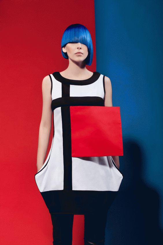 Mondrian dress by Milica Shishalica
