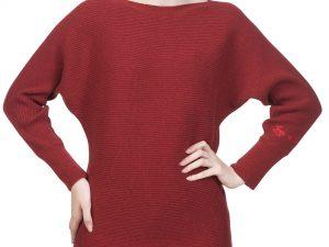 Pulover roșu din cașmir