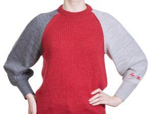 pulover roșu din alpaca