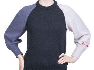pulover albastru din alpaca