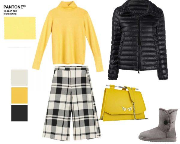geantă galbenă