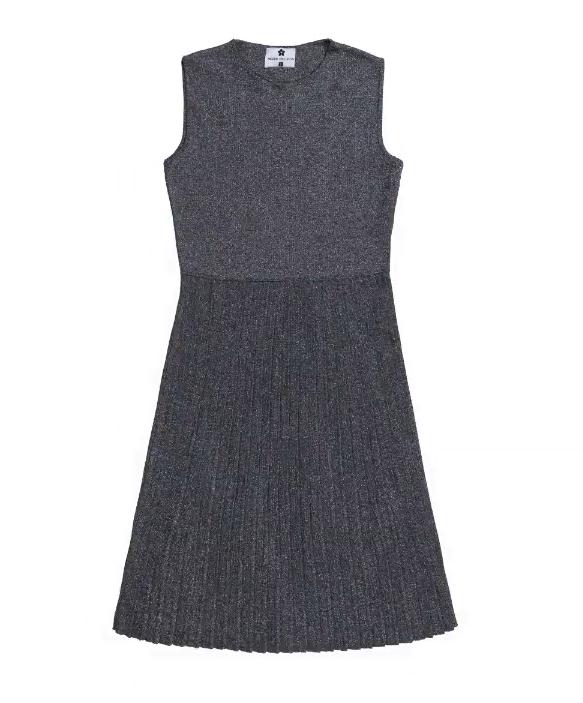 rochie tricotată cu pliseuri